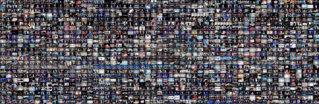 Foto-Collage von 24 Stunden Fox News im Fernsehen. Welchen Einfluss haben Massenmedien? (Foto: CC BY 2.0: Karl Frankowski/flickr)
