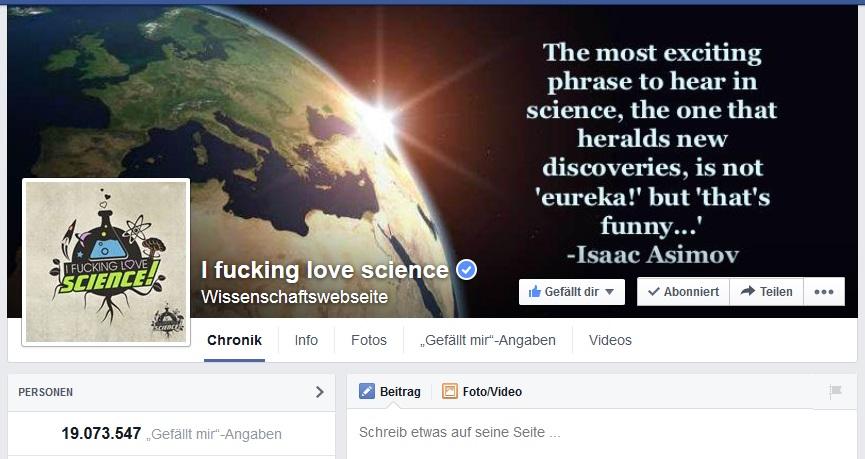 Vor zwei Jahren gestartet und inzwischen fast 20 Millionen Facebook-Fans - eine neue Form der Wissenschaftsberichterstattung. (Screenshot (C) meta)