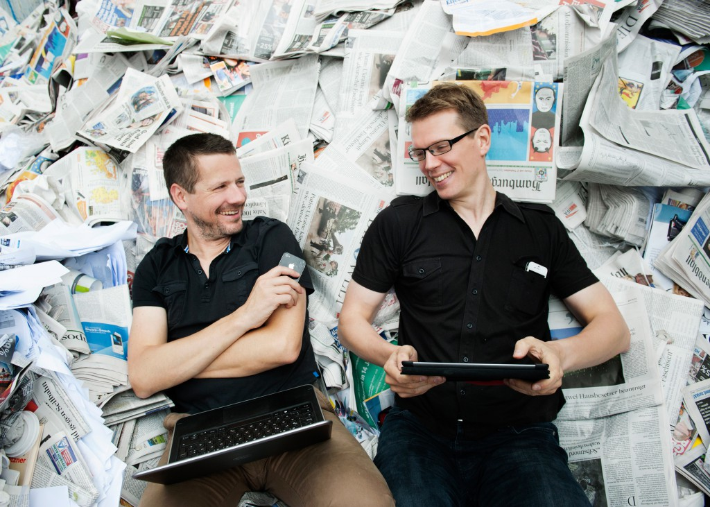 Die Gründer von Substanz: Georg Dahm und Denis Dilba (Foto: Helen Fischer)